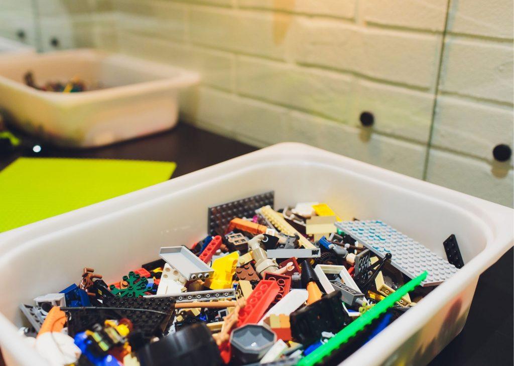 Bin full of legos